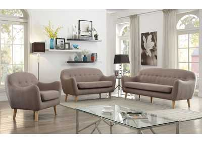 Jillian Light Brown Linen Sofa