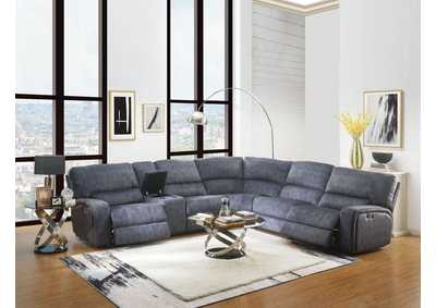Image for Saul Slate Blue Power Reclining Sectional Sofa