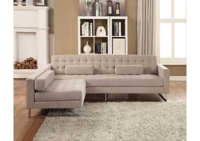 Sampson Beige Fabric Sofa