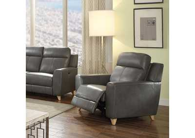 Cayden Gray Leather-Aire Match Recliner,Acme