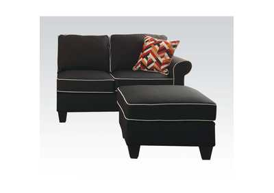 Kelliava Black Fabric Loveseat,Acme