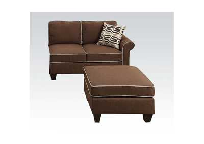 Kelliava Chocolate Fabric Loveseat,Acme