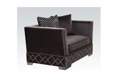 Tamara Charcoal Velvet Chair,Acme