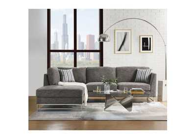Varali Gray Linen Sectional Sofa
