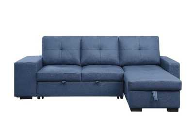Image for Strophios Blue Reversible Sleeper Sofa
