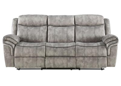 Image for Zubaida Two-Tone Gray Glider Reclining Sofa