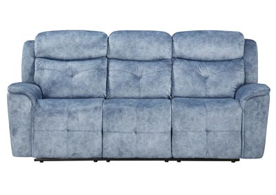 Image for Mariana Silver Blue Reclining Sofa