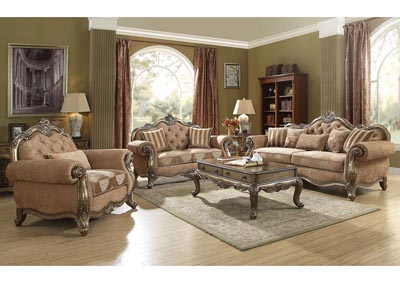 Image for Ragenardus Oak/Brown Upholstered Sofa and Loveseat