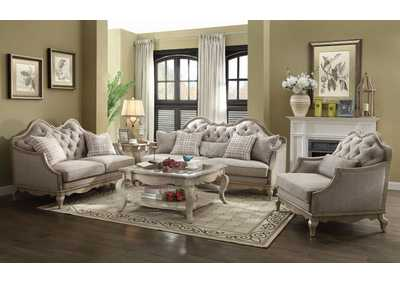Image for Chelmsford Antique Taupe/Beige Fabric Sofa w/5 Pillows