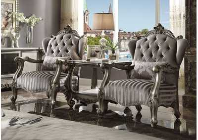 Versailles Velvet & Antique Platinum Chair