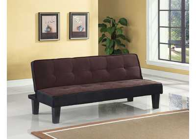 Image for Hamar Chocolate Flannel Fabric Futon