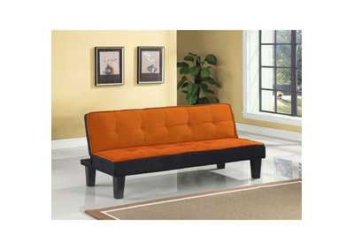 Image for Hamar Orange Flannel Fabric Futon