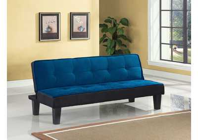 Image for Hamar Blue Flannel Fabric Futon