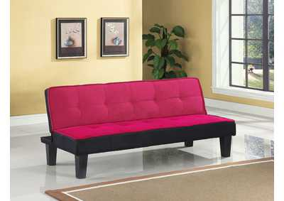 Image for Hamar Pink Flannel Fabric Futon