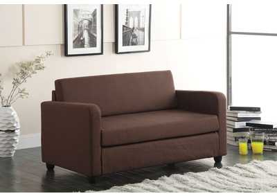 Image for Conall Chocolate Fabric Futon