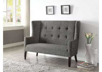Image for Paloma Gray Fabric & Espresso Settee