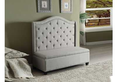 Image for Fairly Beige Fabric & Espresso Settee