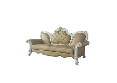 Picardy Antique Pearl & Butterscotch PU Sofa,Acme
