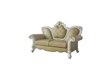 Picardy Antique Pearl & Butterscotch PU Loveseat,Acme