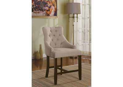 Image for Drogo Cream Fabric & Walnut Counter Height Chair