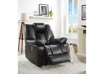 Jailene Black Leather-Aire Recliner
