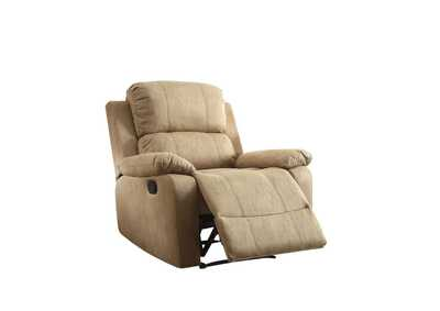 Bina Light Brown Polished Microfiber Recliner,Acme