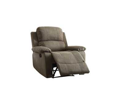 Bina Gray Polished Microfiber Recliner