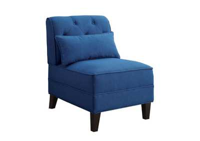 Susanna Blue Linen Accent Chair