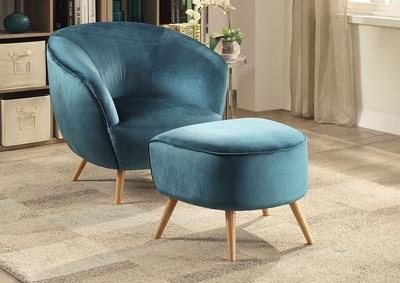 Image for Aisling Teal Ottoman