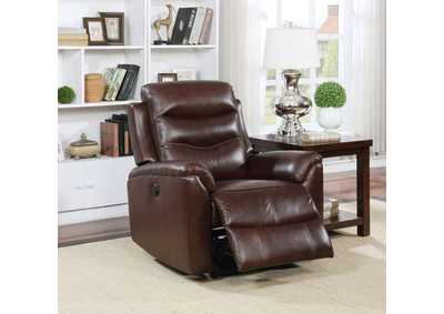 Ava Brown Top Grain Leather Recliner