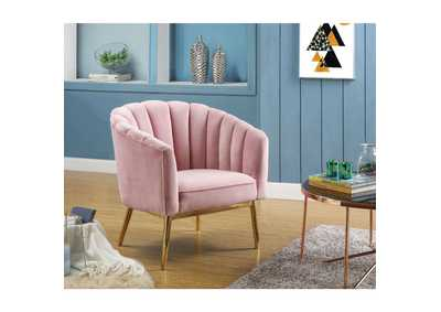 Colla Pink/Gold Accent Chair,Acme
