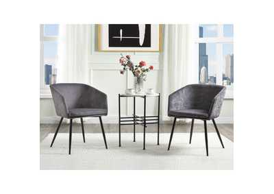 Image for Taigi Gray/Black 3Pc Pack Chair & Table