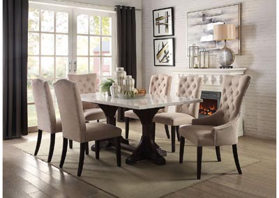 Image for Gerardo White/Espresso Dining Table