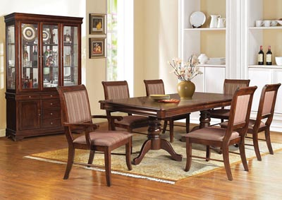 Image for Mahavira Espresso Dining Table w/4 Side Chair & 2 Arm Chair