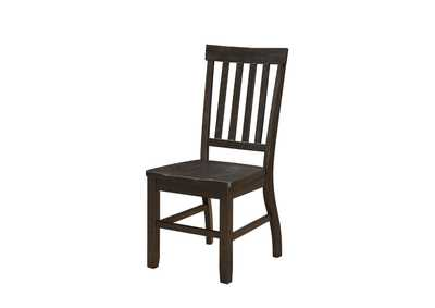 Image for Maisha Rustic Walnut Side Chair (Set-2)