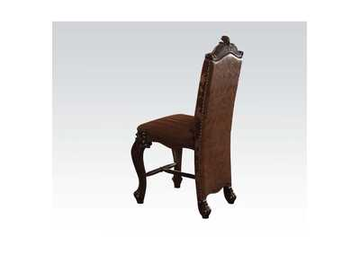 Image for Versailles 2-Tone Light Brown PU/Fabric & Cherry Oak Counter Height Chair