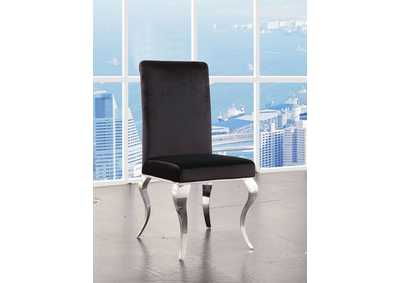 Fabiola Stainless Steel Side Chair (Set of 2)
