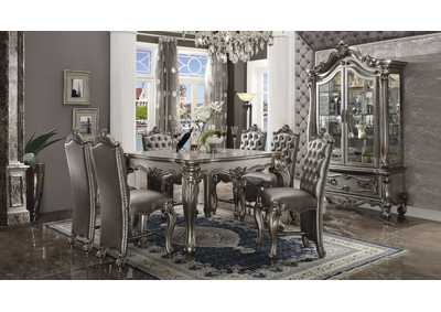 Image for Versailles Antique Platinum Counter Table w/4 Counter Chair