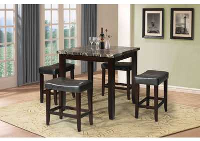 Image for Ainsley Black/Espresso Counter Dining Set (Set of 5)