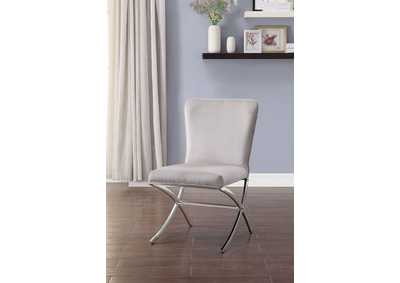 Daire Chrome Side Chair (Set of 2)