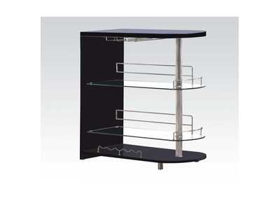 Image for Yashvin Black & Chrome Bar Table