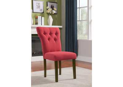 Effie Red/Walnut Side Chair (Set of 2)