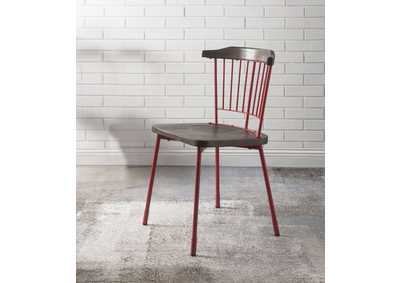 Orien Red/Brown Oak Side Chair (Set of 2)