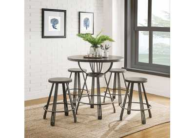 Davin Espresso Counter Dining Set (Set of 5)