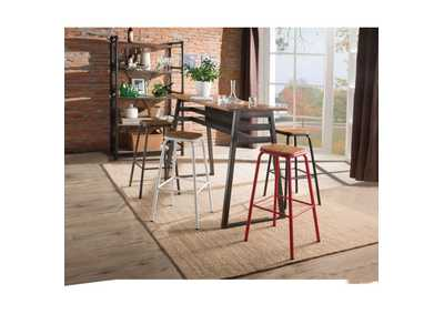 Image for Scarus Natural & Gunmetal Bar Table