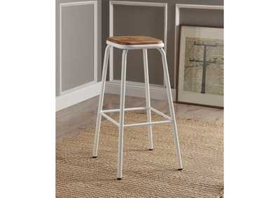 Image for Scarus Natural/White Bar Stool (Set of 2)