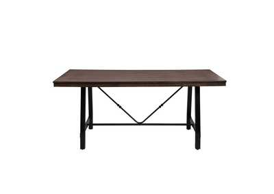 Image for Mariatu Oak & Black Dining Bench