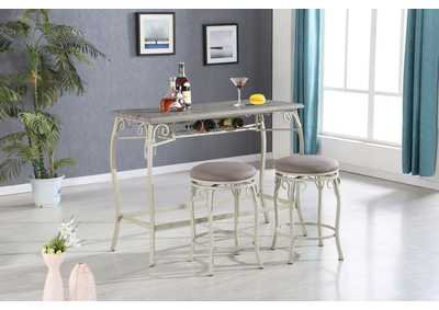 Image for Irmeda Oak Gray Counter Dining Set (Set of 3)