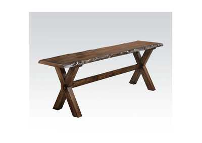 Image for Tratha Antique Oak Bench