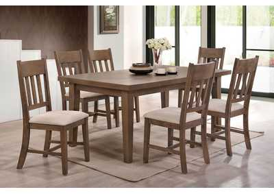 Image for Ulysses Cream/Oak Side Chair (Set of 2)